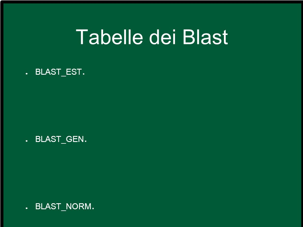 Esercizio 4 Selezionare, dalla tabella BLAST_NORM le sequenze che hanno lo stesso NCBI_Subject_ID della sequenza 8RG3CGA11.