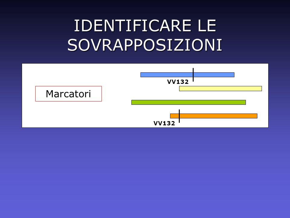IDENTIFICARE LE SOVRAPPOSIZIONI Marcatori VV132