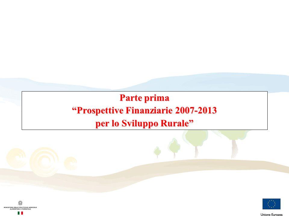 Prospettive Finanziarie 2007 – 2013: negoziato Febbraio 2004: Commissione propone un tetto di 999,7 miliardi di euro (88,75 per lo SR) Dicembre 2005: Accordo nel Consiglio Europeo con una riduzione del tetto di spesa a 860,8 miliardi euro (69,75 per lo SR) Aprile 2006: Accordo Interinstitutionale (Parlamento, Consiglio e Commissione Europea) che incrementa il tetto a 864,3 miliardi di euro (69,75 per lo SR) Maggio 2006: firma dell AI con Dec 2006/C 139/01