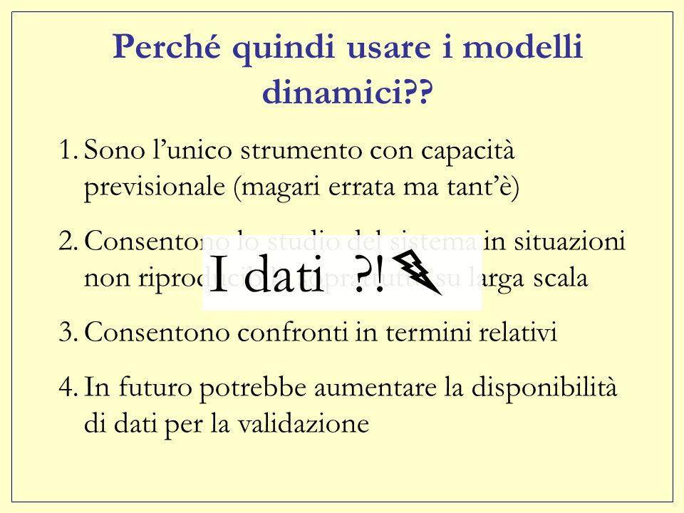 Perché quindi usare i modelli dinamici?.