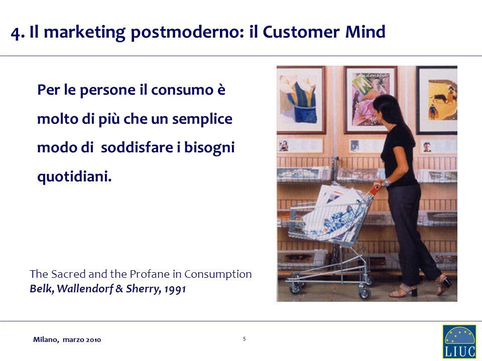 Milano, marzo 2010 5 Per le persone il consumo è molto di più che un semplice modo di soddisfare i bisogni quotidiani.