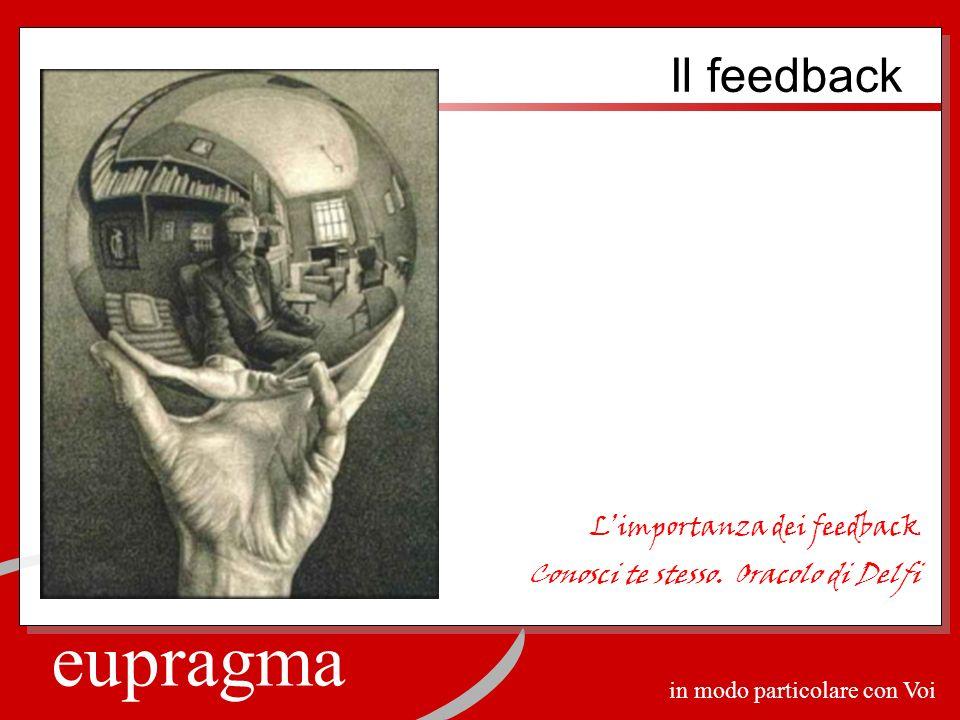 eupragma in modo particolare con Voi Limportanza dei feedback Conosci te stesso.