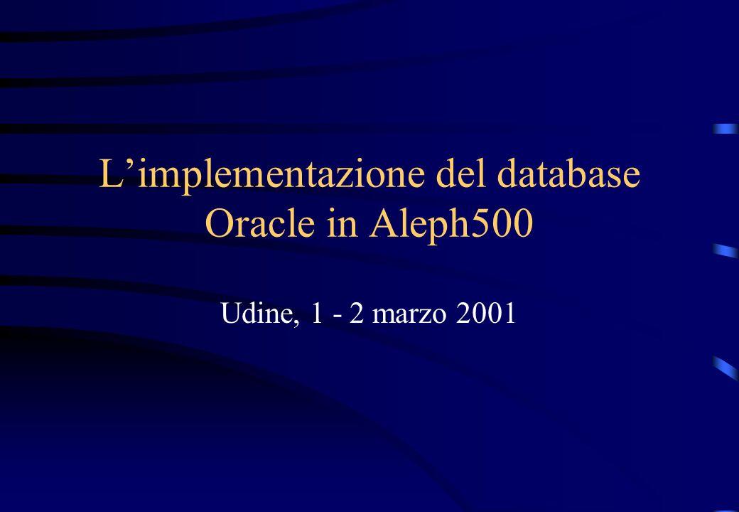 Descrizione del database Oracle Terminologia, struttura del database, componenti e funzionalità principali.