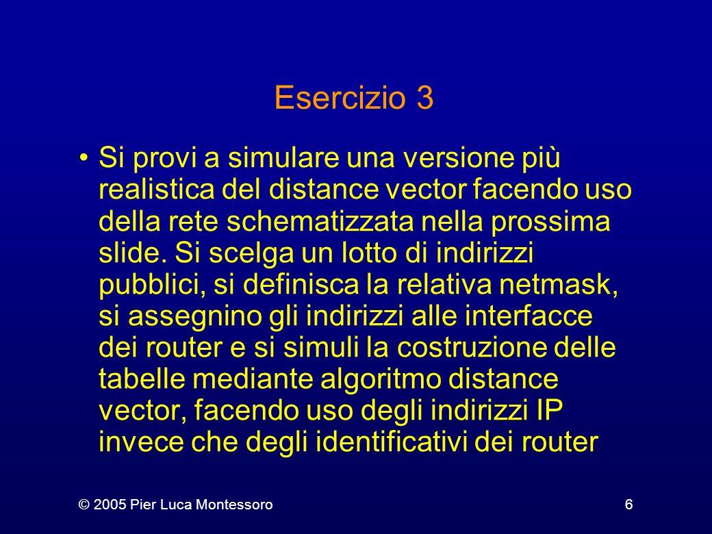 © 2005 Pier Luca Montessoro7 C A D B 1 2 1 1 2 2 3 2 3 3 4 5 subnet #1 subnet #2 subnet #5 subnet #4 subnet #3