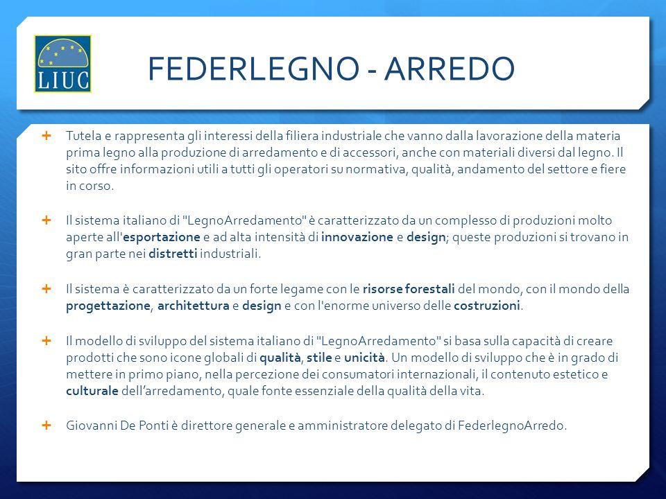 FEDERLEGNO: I NUMERI Secondo settore manifatturiero italiano per numero di aziende Terzo settore per il contributo positivo per la bilancia commerciale nazionale.