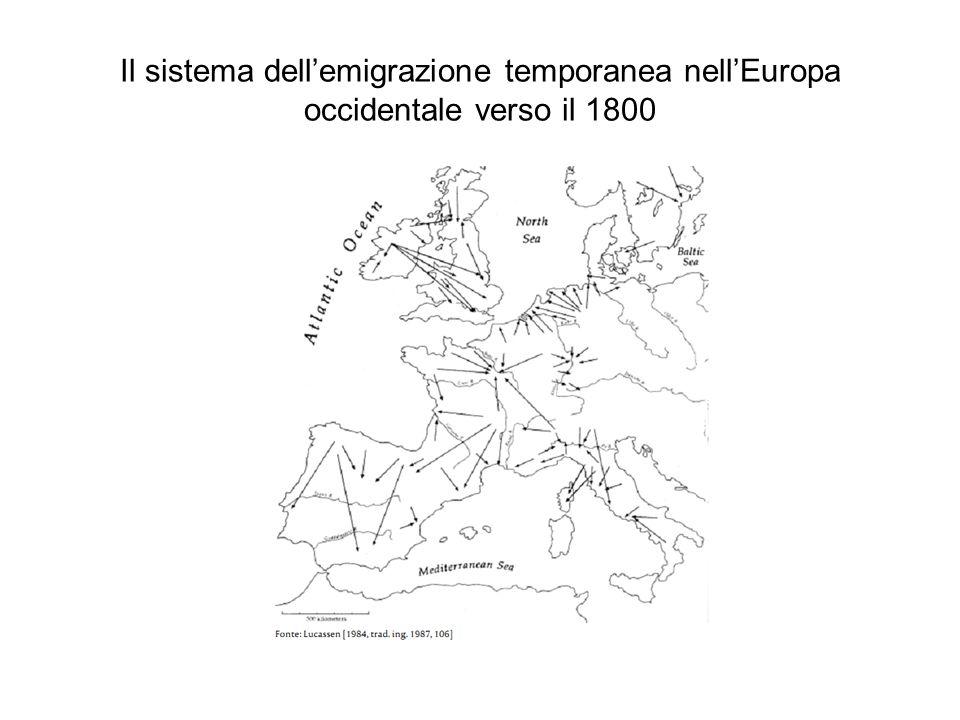 Il sistema dellemigrazione temporanea nellEuropa occidentale verso il 1800