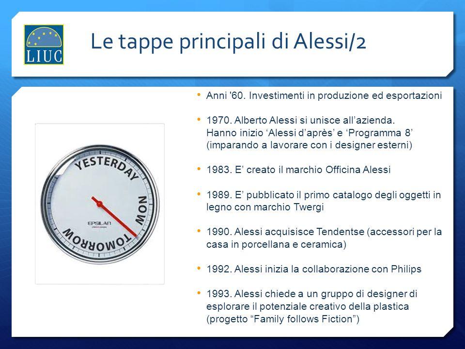 Anni '60. Investimenti in produzione ed esportazioni 1970. Alberto Alessi si unisce allazienda. Hanno inizio Alessi daprès e Programma 8 (imparando a