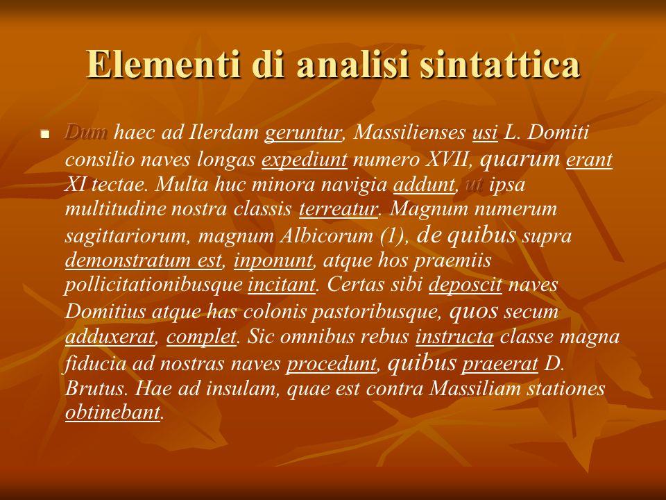 Elementi di analisi sintattica