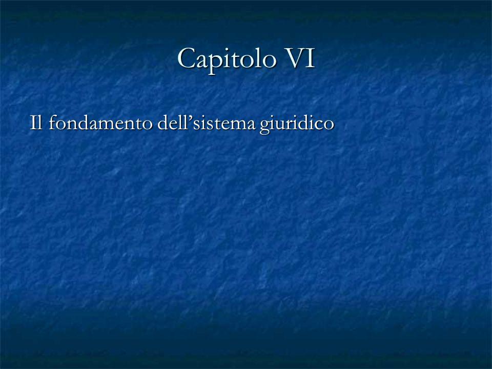 Capitolo VI Il fondamento dellsistema giuridico