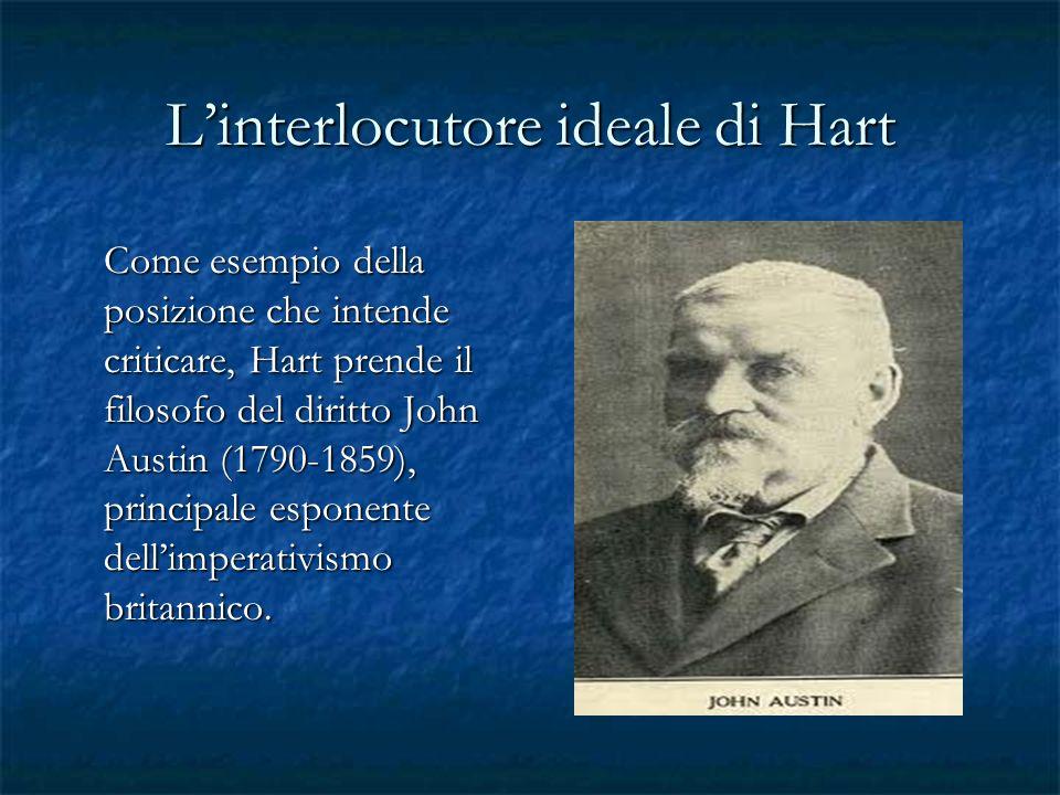Linterlocutore ideale di Hart Come esempio della posizione che intende criticare, Hart prende il filosofo del diritto John Austin (1790-1859), princip