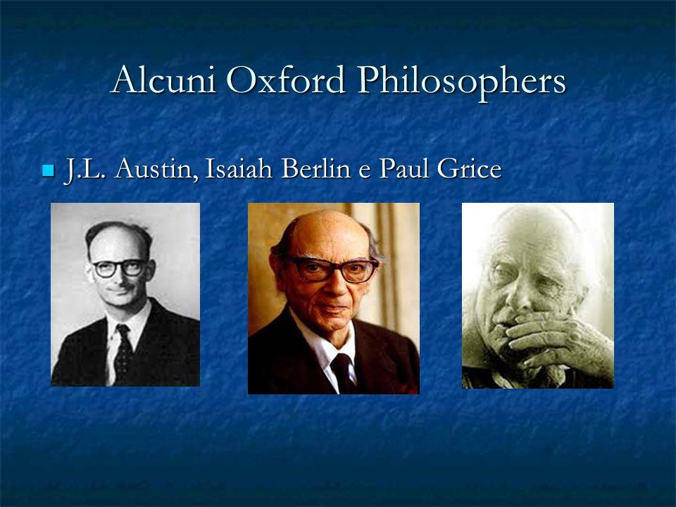 Quali sono le caratteristiche di fondo della Filosofia di Oxford Per i filosofi di Oxford lo studio del linguaggio ordinario è la premessa per affrontare i problemi della filosofia.