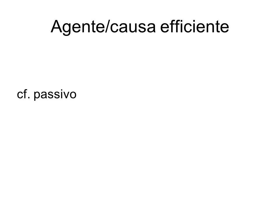Agente/causa efficiente cf. passivo