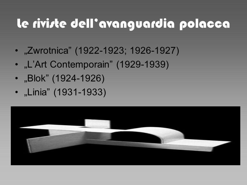 Le riviste dellavanguardia polacca Zwrotnica (1922-1923; 1926-1927) LArt Contemporain (1929-1939) Blok (1924-1926) Linia (1931-1933)