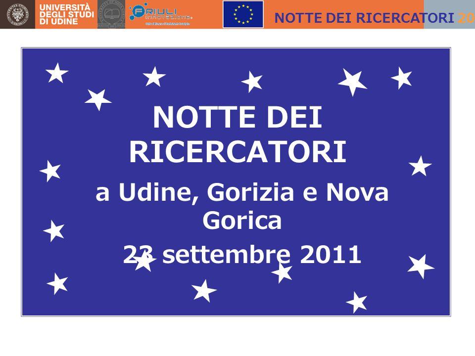 NOTTE DEI RICERCATORI a Udine, Gorizia e Nova Gorica 23 settembre 2011 NOTTE DEI RICERCATORI 2011