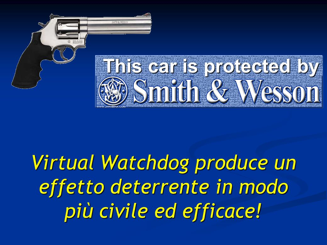Virtual Watchdog produce un effetto deterrente in modo più civile ed efficace.