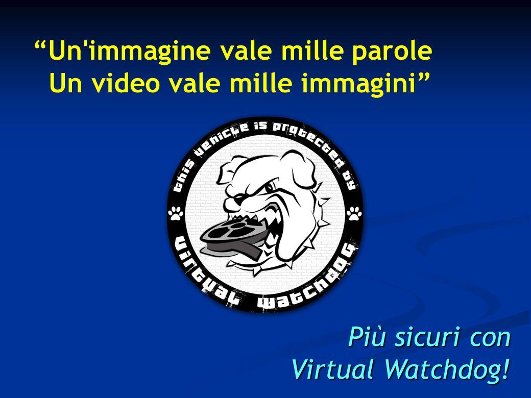 Un immagine vale mille parole Un video vale mille immagini Più sicuri con Virtual Watchdog!