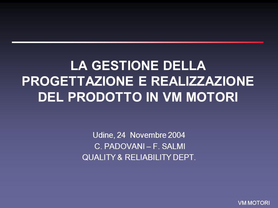 VM MOTORI Contenuti Generalità Azienda & Prodotto Gli ingredienti base Il Sistema I risultati