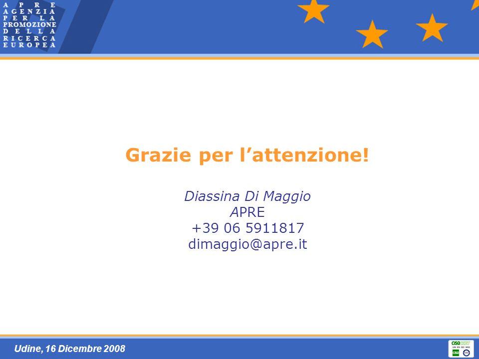Udine, 16 Dicembre 2008 Grazie per lattenzione.