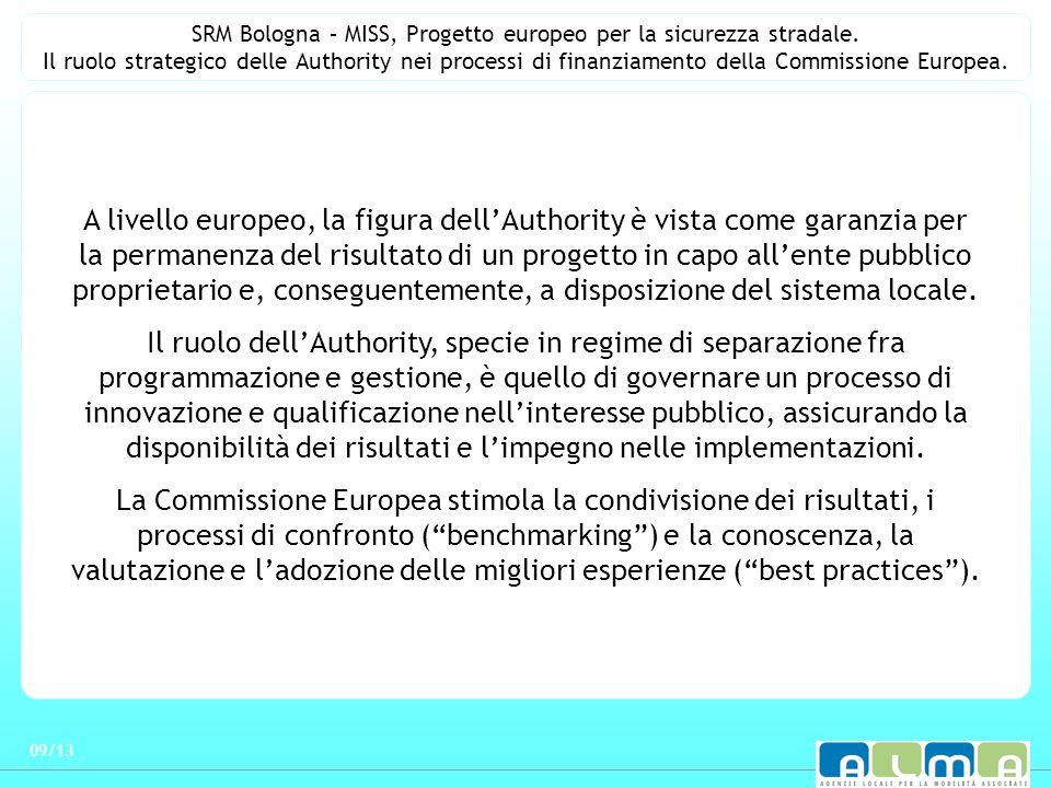 SRM Bologna – MISS, Progetto europeo per la sicurezza stradale. Il ruolo strategico delle Authority nei processi di finanziamento della Commissione Eu