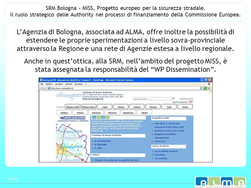 SRM Bologna – MISS, Progetto europeo per la sicurezza stradale.