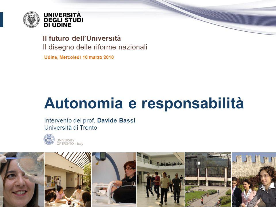 Autonomia e responsabilità Intervento del prof.