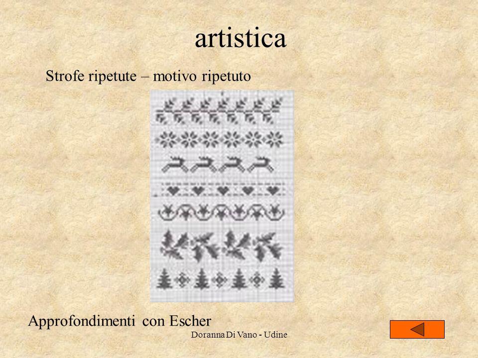 artistica Strofe ripetute – motivo ripetuto Approfondimenti con Escher Doranna Di Vano - Udine