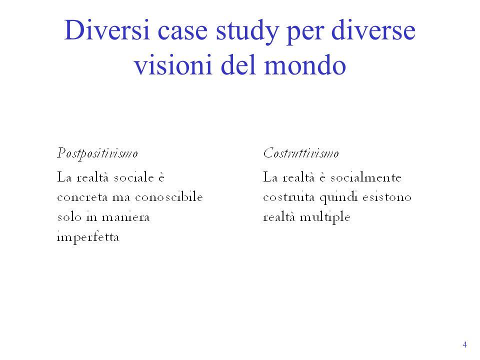 4 Diversi case study per diverse visioni del mondo