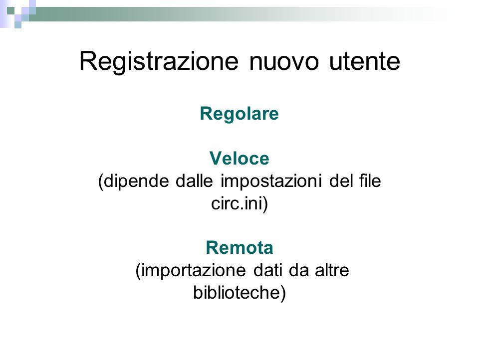 Copie smarrite, richiami, copie registrate come restituite Se unopera viene dichiarata Smarrita il sistema aggiorna la data di restituzione (Smarrito).