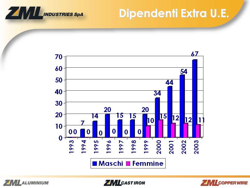 Turnover 51 persone Assenteismo 7,36% Numero di persone mediamente coinvolte ogni anno nella formazione: 200ps/y x 25h/y pro-capite Dati di sintesi