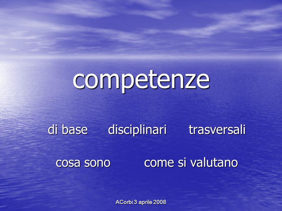 ACorbi 3 aprile 2008 Il DPR 275/99 e lautonomia delle istituzioni scolastiche I D.D.M.M.22 /7/ 2007 e I D.D.M.M.22 /7/ 2007 e 31/ 7/ 2007, la C.M.