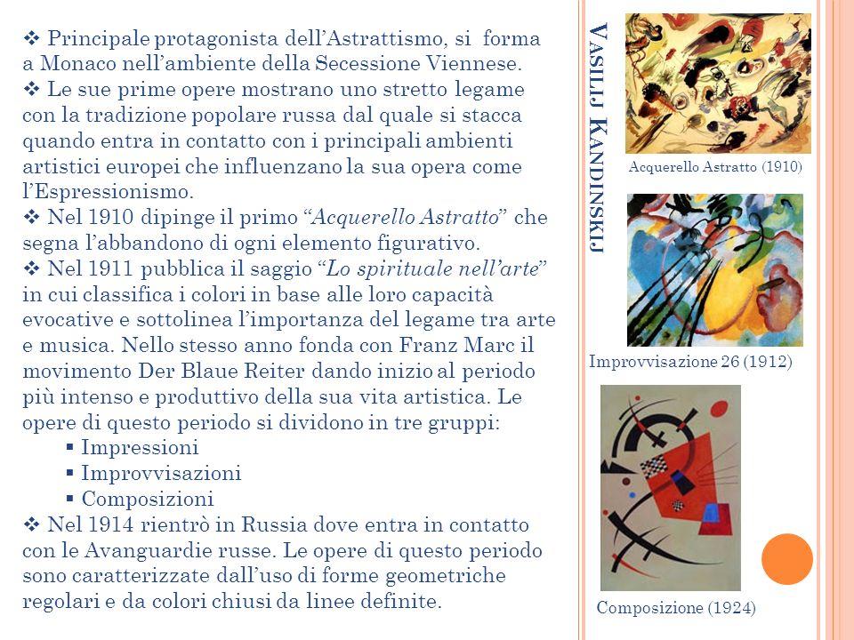 Paul Klee Esponente di spicco dellAstrattismo, ma non unico mezzo espressivo.