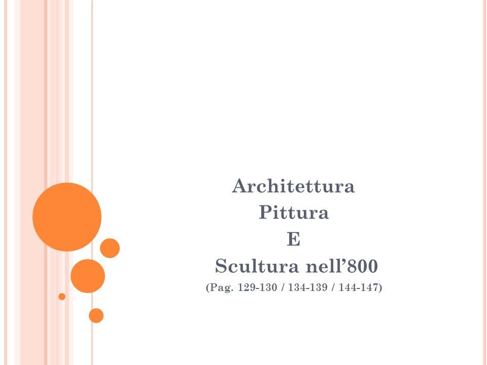 Architettura Pittura E Scultura nell800 (Pag. 129-130 / 134-139 / 144-147)