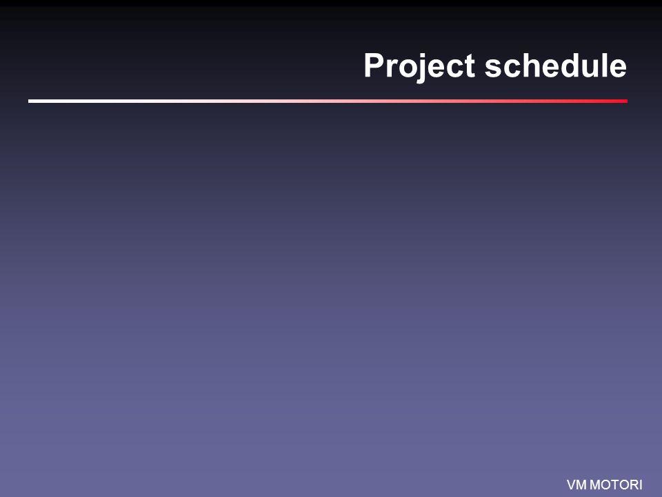 VM MOTORI Project schedule