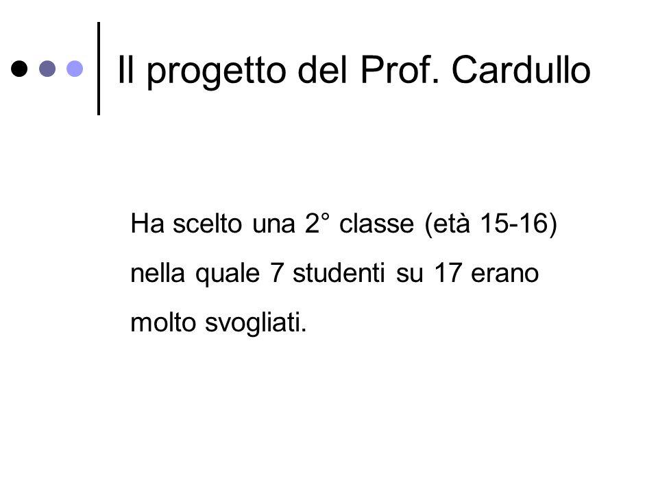 Il progetto del Prof.
