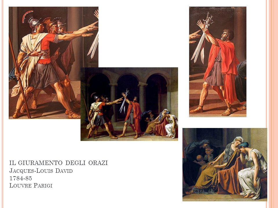 IL GIURAMENTO DEGLI ORAZI J ACQUES -L OUIS D AVID 1784-85 L OUVRE P ARIGI