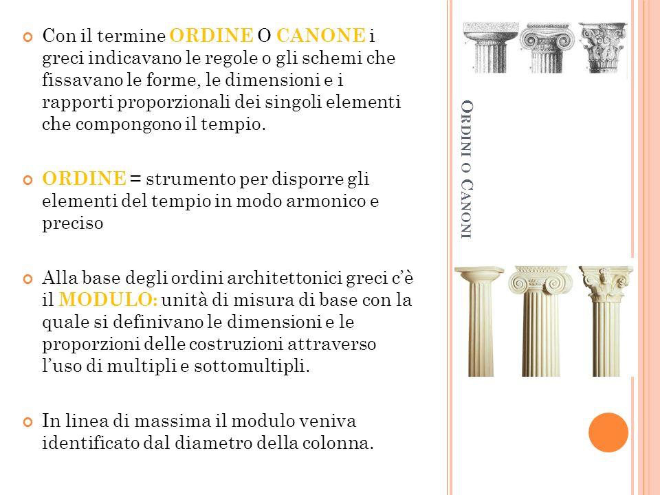 C ORREZIONI O TTICHE Con il termine CORREZIONE OTTICA i greci indicavano i piccoli accorgimenti, necessari ad eliminare le possibili distorsioni nella visione esterna del tempio causati dai meccanismi delle percezione.
