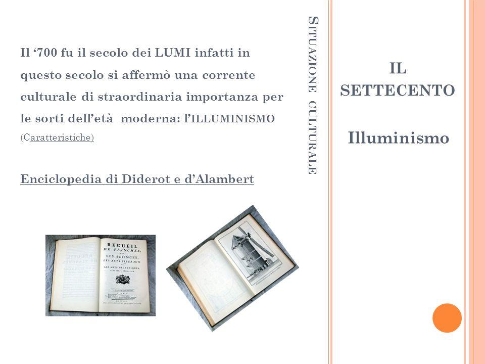 S ITUAZIONE ARTISTICA LItalia perde gradualmente il ruolo di guida delle tendenze artistiche.