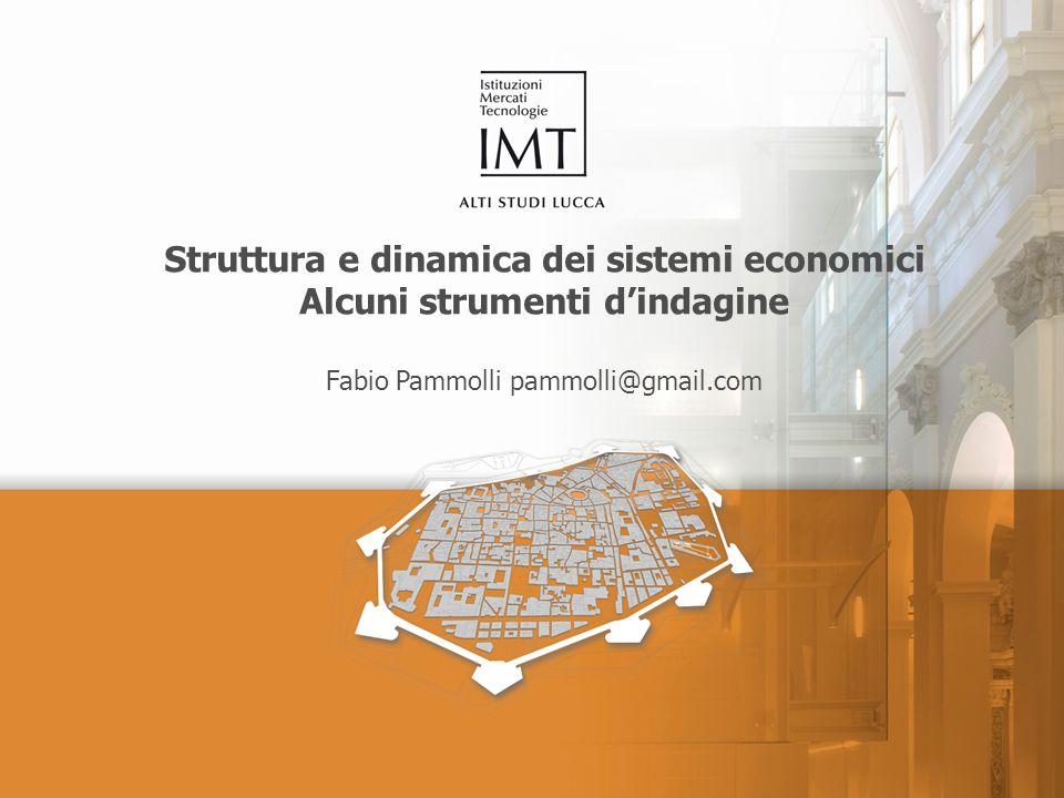 Struttura e dinamica dei sistemi economici Alcuni strumenti dindagine Fabio Pammolli pammolli@gmail.com