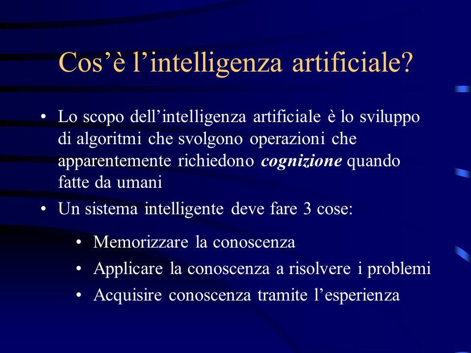 Reti Neurali: studi sull'intelligenza artificiale S. Gentili Dipartimento di Matematica e Informatica
