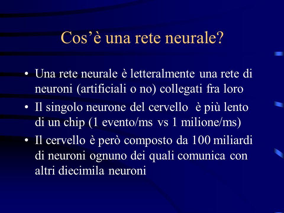 Cosè una rete neurale.