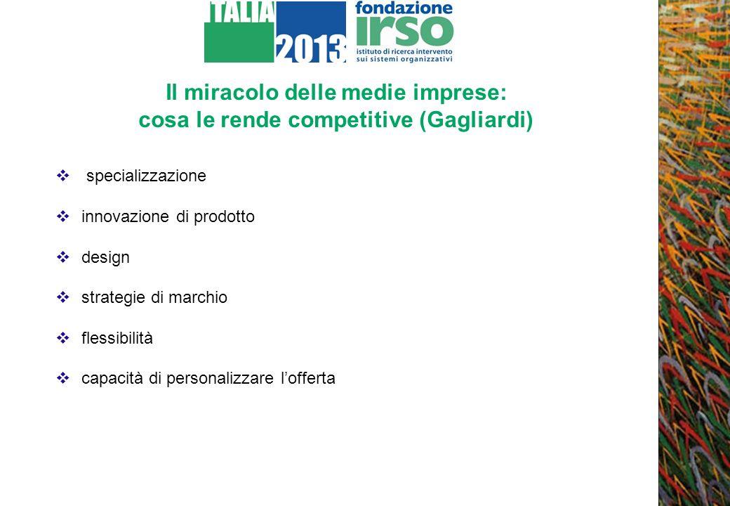 Il miracolo delle medie imprese: cosa le rende competitive (Gagliardi) specializzazione innovazione di prodotto design strategie di marchio flessibili