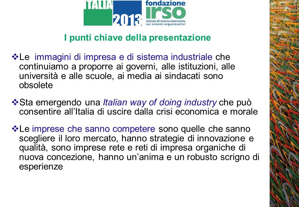 Che cosa è Italia 2013: domande e ipotesi Il programma Italia 2013 è un programma di ricerca-intervento che studia significativi casi di imprese italiane che mantengono e rafforzano – anche nella crisi – la propria competitività Come fanno per competere.