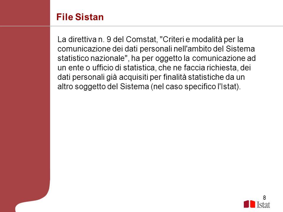8 File Sistan La direttiva n. 9 del Comstat,