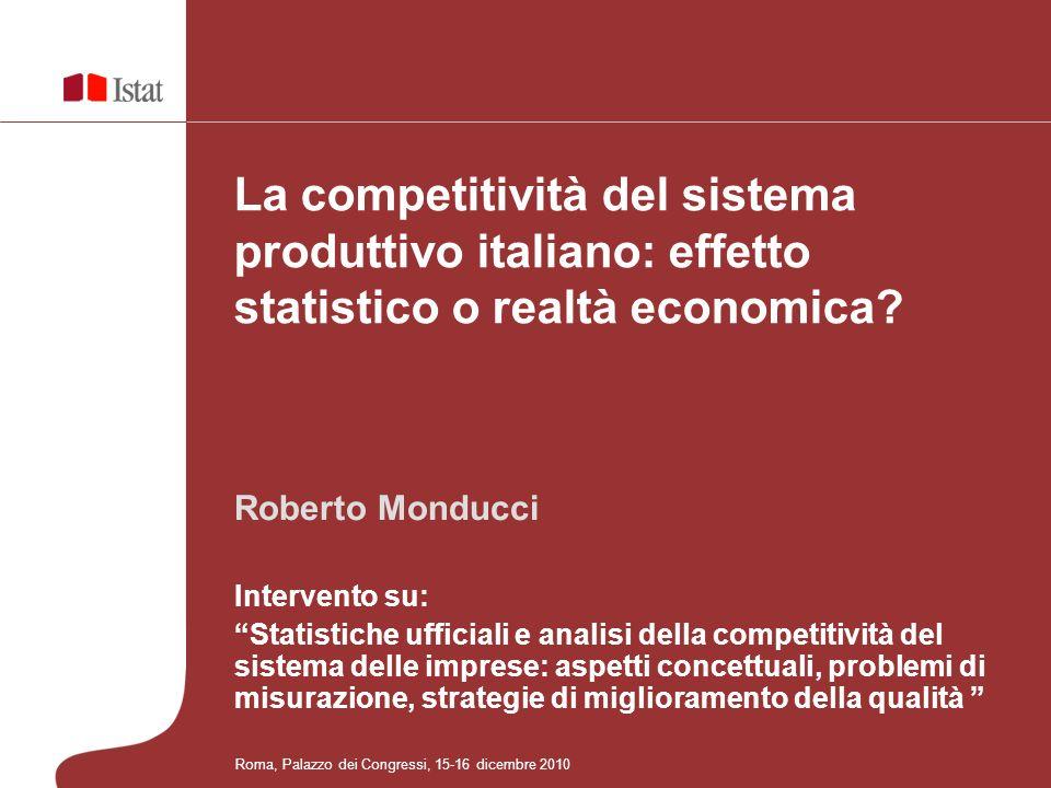 La competitività del sistema produttivo italiano: effetto statistico o realtà economica.