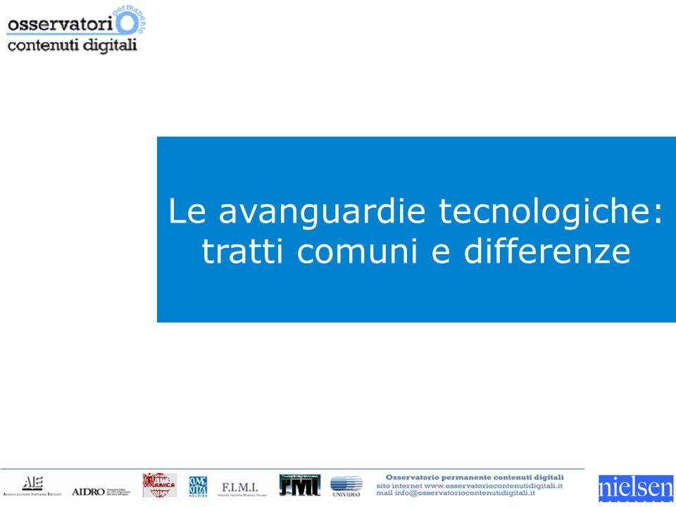 Le avanguardie tecnologiche: tratti comuni e differenze