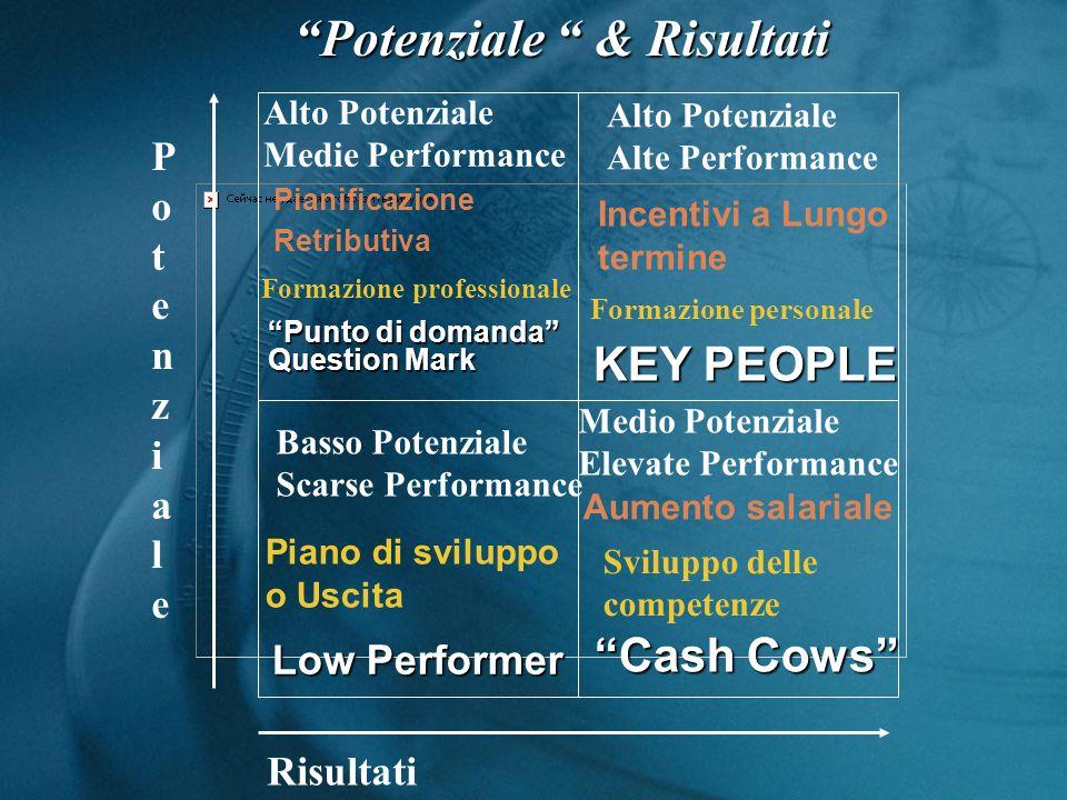 Risultati PotenzialePotenziale Alto Potenziale Alte Performance Medio Potenziale Elevate Performance Basso Potenziale Scarse Performance Alto Potenzia