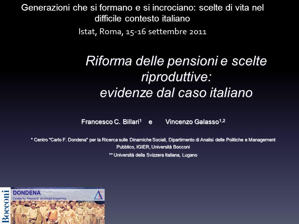 Riforma delle pensioni e scelte riproduttive: evidenze dal caso italiano Francesco C.