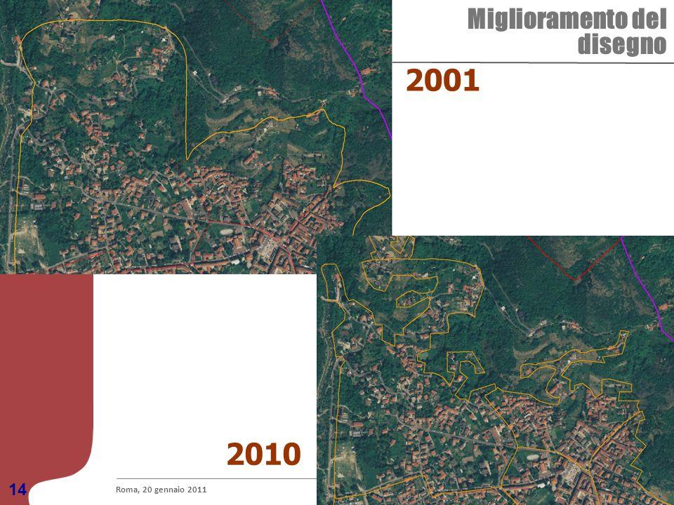Le basi territoriali per i censimenti come strumento di integrazione dellinformazione statistica Miglioramento del disegno Roma, 20 gennaio 2011 14 20