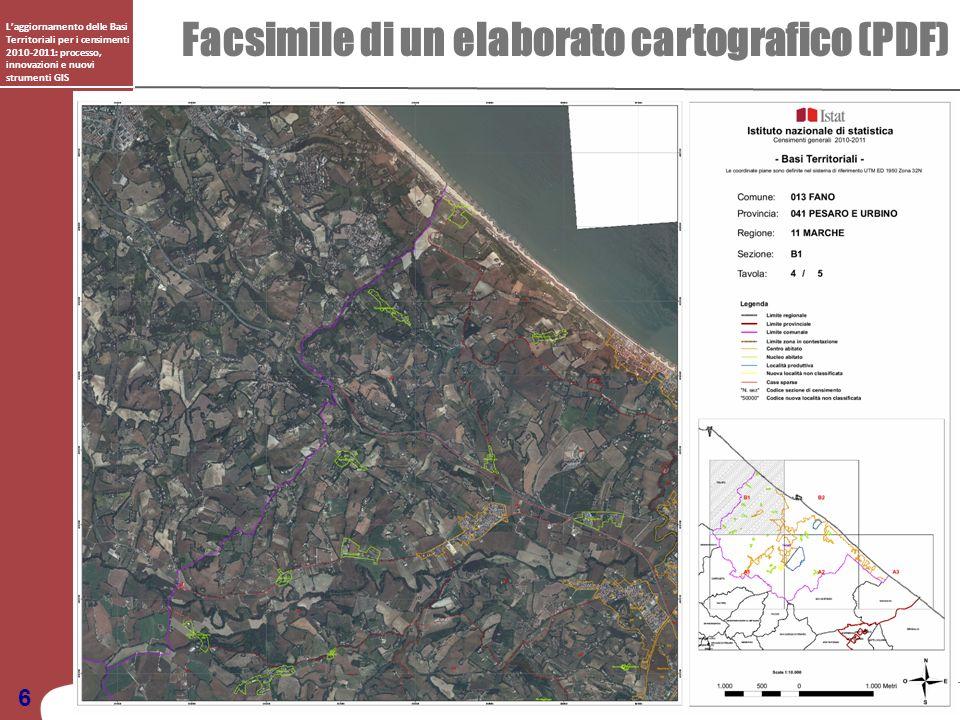 Laggiornamento delle Basi Territoriali per i censimenti 2010-2011: processo, innovazioni e nuovi strumenti GIS Facsimile di un elaborato cartografico