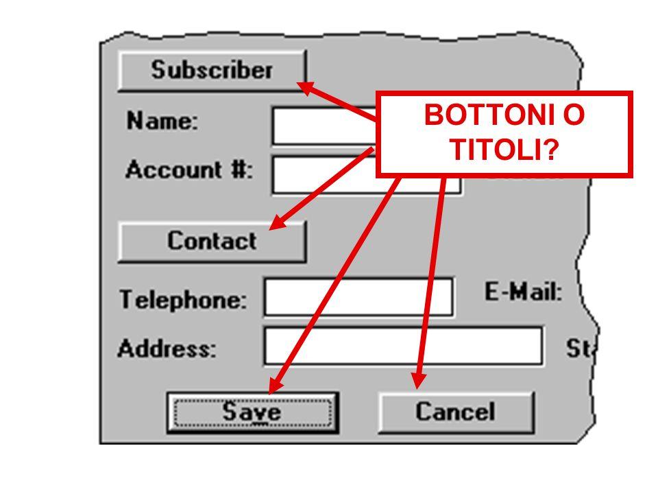 BOTTONI O TITOLI?